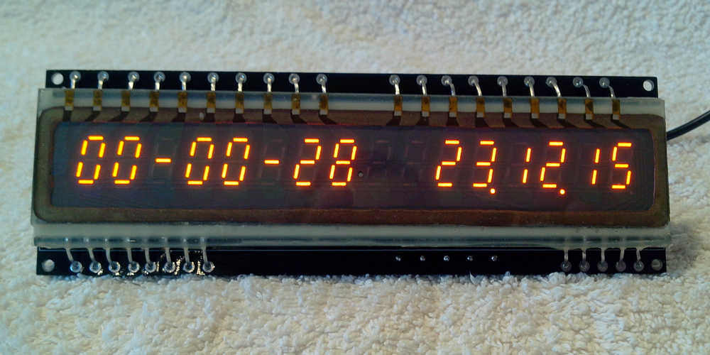 IGP-17Clock displaying time and date