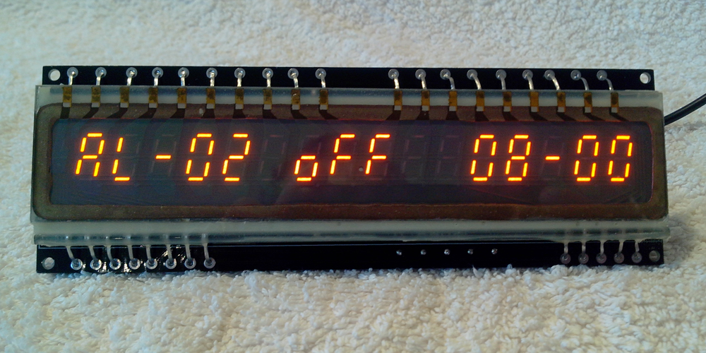 IGP-17Clock displaying Alarm 2