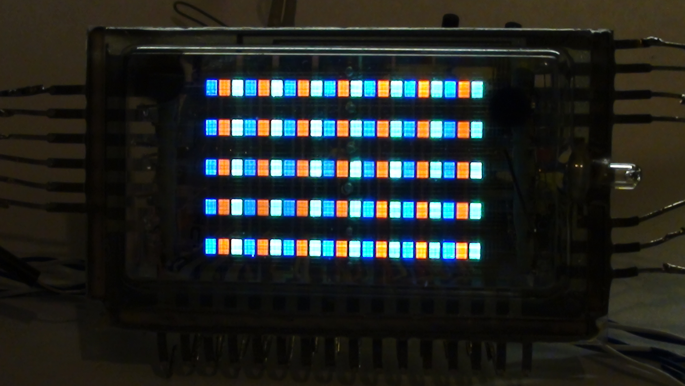 3 colours VFD matrix display