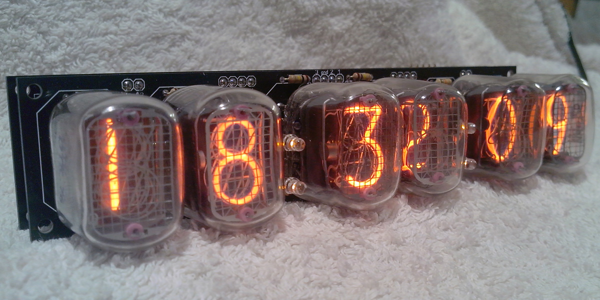 IN-12 6 digits clock