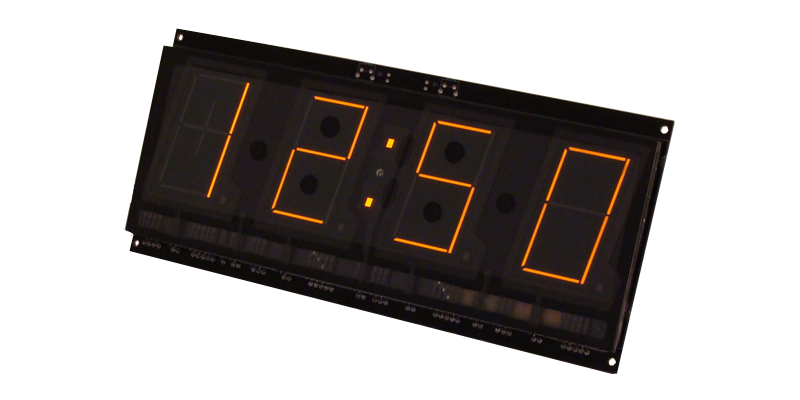 SP431 Panaplex 4 digits clock