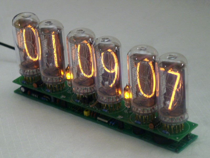 In 18 6 Digits Nixie Clock Without Tubes Clocks