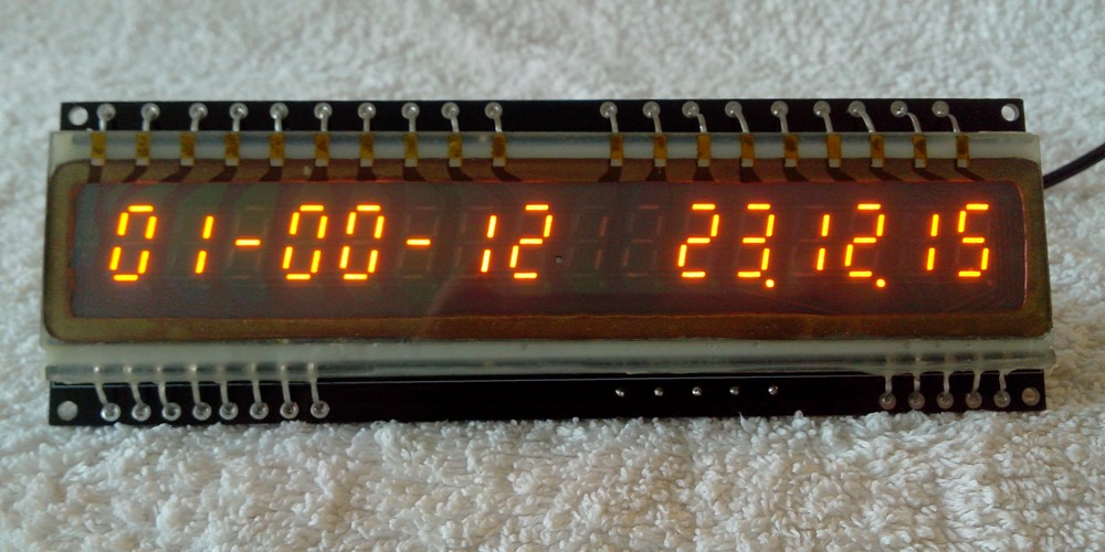 16 digits slim design IGP-17 panaplex clock