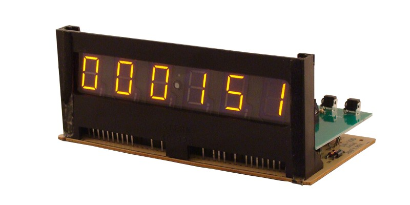 6 DIGITS PINBALL DISPLAY PANAPLEX CLOCK