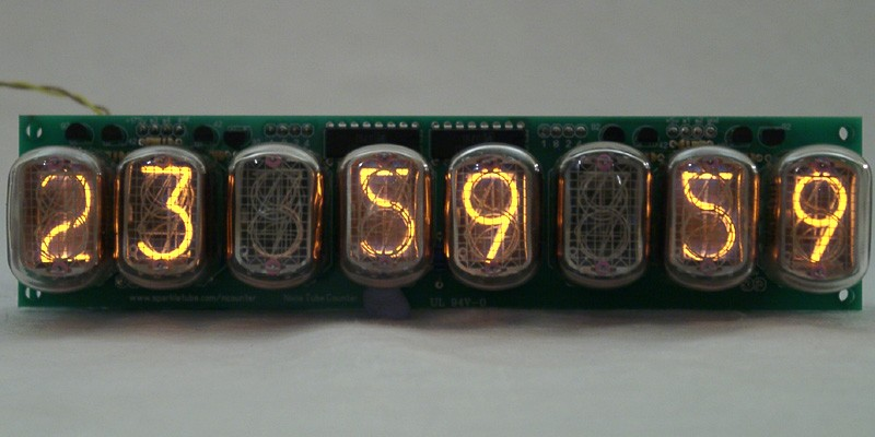 IN-12 8 digits Nixie Clock/Counter - Clocks